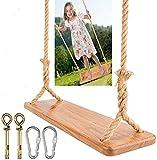 Holz Schaukelsitz für Erwachsene,Morwealth Schaukel 55 x19.5 x3cm,Tragfähigkeit:...