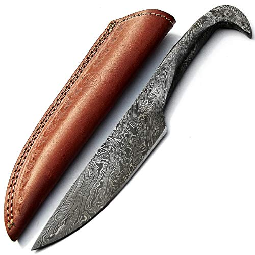 PAL 2000 KNIVES -SGNS-9379- Full Tang Handmade Damascus Steel Knife with Sheath