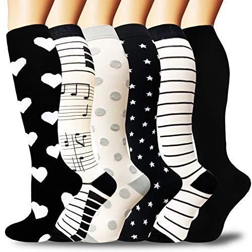 Compression Socks for Women amp Men Circulation  Best Knee High Stockings for RunningAthleticHikingCyclingTravel Flight