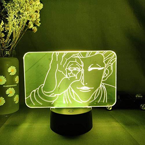 Lámpara de noche LED con imagen de personaje de anime japonés, ventilador Otaku, novedad, regalo, luz, decoración de dormitorio en la mesa, control remoto