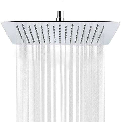 SR SUN RISE SRSH-1003 11 Inch Rainfall Shower Head System, Polished Chrome