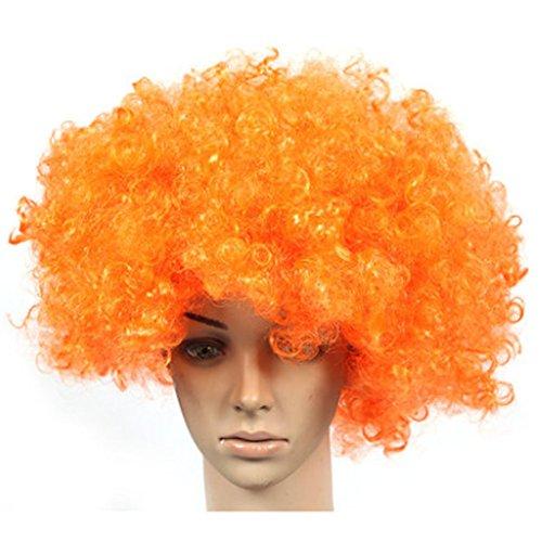 Lot de 2 Halloween Costume Party Clown Perruques cheveux, Orange