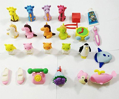 Cute Animal jouet Gifts Simulation Crayon gomme en caoutchouc pour enfants PARTY Fancy enfants sac de remplissage