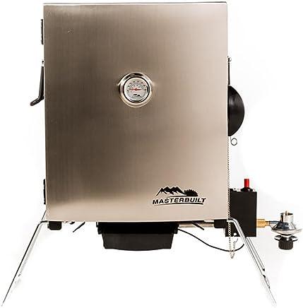 Masterbuilt Compact Outdoor Camping Tailgating Portable Propane BBQ Smoker Grill