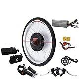 Kit de conversión para bicicleta eléctrica de 28 pulgadas y 36 V, kit de conversión para bicicleta eléctrica, motor de bicicleta eléctrica con pantalla LCD (250 W)