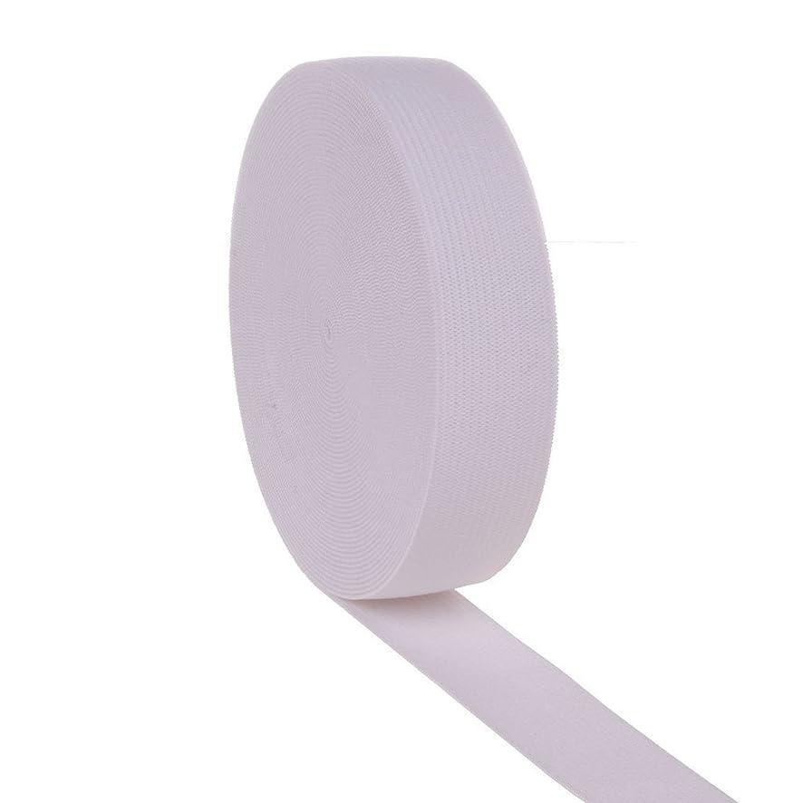 Ninepeak 3/4 Inch Wide Knit Heavy Stretch High Elasticity Elastic Band 10 Yards (White)