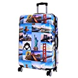 <span class='highlight'><span class='highlight'>Karabar</span></span> Hard Shell Extra Large Suitcase Luggage Bag XL 76 cm 4.5 kg 100 litres 4 Spinner Wheels with Integrated TSA Number Lock, Falla America