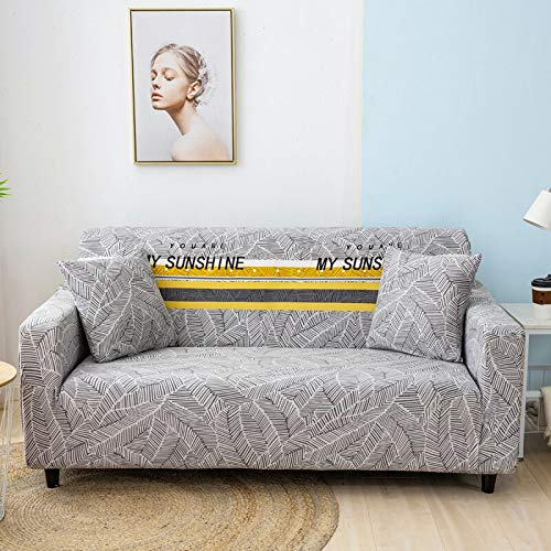 ASCV Protector de sofá Fundas de sofá para Sala de Estar Funda elástica elástica Fundas de sofá de Esquina seccionales A8 4 plazas