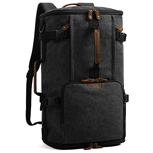 G-FAVOR 40L Travel Backpack,Vintage Canvas Rucksack Convertible Duffel Bag Flight Approved Luggage Carry Fit for 17 Inch Laptop