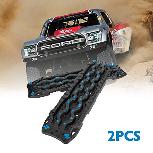 DEFEND INDUST Traction Tracks 2 pcs Black Traction Boards for Off-Road Mud, Sand,Snow Vehicle Extraction Track Tire Ladder 4X4 Traction mat,mud Tires