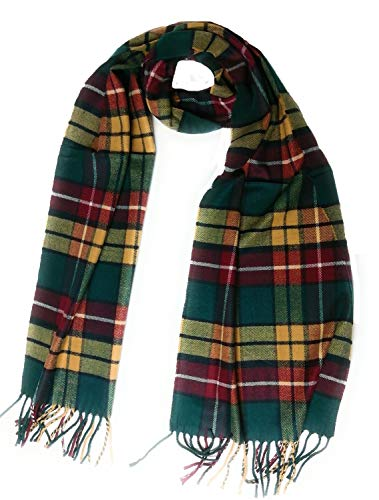 KGM Accessoires Super zachte Schotse Tartan kasjmier plaid sjaal - Tartan sjaals voor Mannen Vrouwen