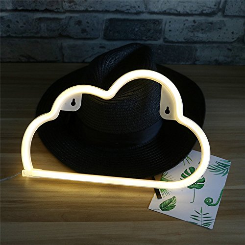 Generic LED New Neon Cloud Shaped Night light Battery Or USB Power Home Christmas Party Decorations