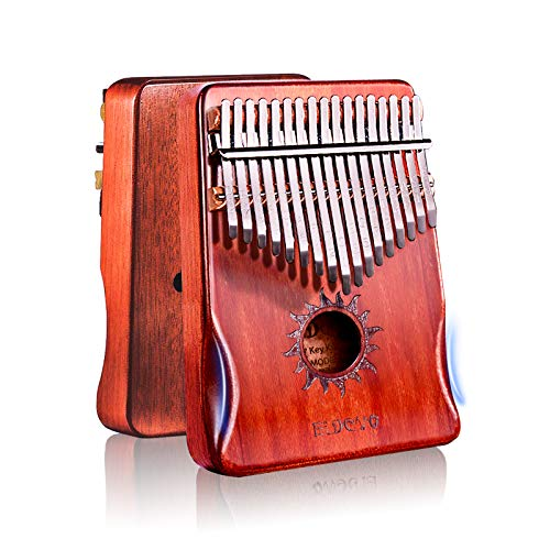 Kalimba Thumb Piano 17 Keys,Mbira Sanza Finger Piano with Waterproof Protective Box,Study Instruction and Tune Hammer,Portable Easy Operation Engraved Notes,Gift Ideas for Kids Adult