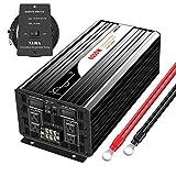 Xijia 6000W (Peak 12000W) Pure Sine Wave power Inverter DC 12V 24V 48V to AC 120V 60HZ Solar converter For Home Use car (DC 12V to AC 120V)