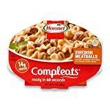 Hormel Compleats Swedish Meatballs with Pasta in Cream Sauce, 9 Ounce Microwavable Bowls (Pack of 6)