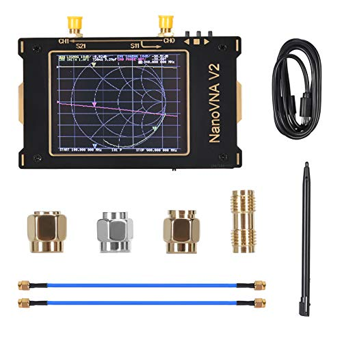 TOPQSC Vector Network Analyzer 50-kHz-3-GHz-HF-UKW-UHF-Spektrumanalysator 2000-mAh-Antennenanalysator 3,2-Zoll-Digital-LCD-Touchscreen Messen Sie S-Parameter,Stehwellenverhältnis der Spannung,Phase