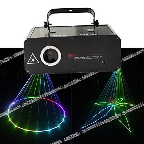 ZhanMa Discolicht Partylicht - Disco Lights, Sound Activated Party Light LED Bühnenprojektor 7 Farben 100 Muster for zu Hause im Freien Urlaub Parteien und Geburtstag