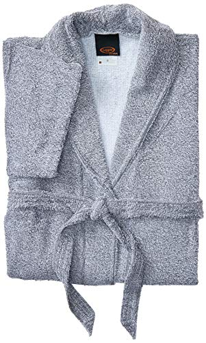 Roupão Felpudo Lepper Artemis Cinza Médio Pacote de 1 Algodão Tradicional