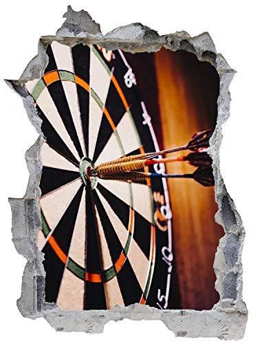 Darts Sport Pfeile Zielscheibe Wandtattoo Wandsticker Wandaufkleber E0064 Größe 67 cm x 90 cm