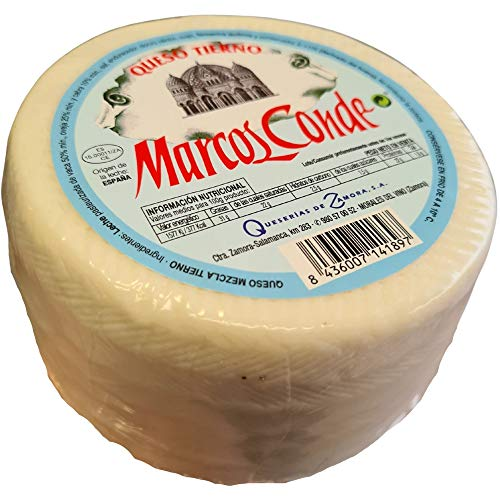 Queso Mezcla Tierno Marcos Conde Mini - Peso Aproximado 900 gramos - Queso madurado, elaborado con leche pasterizada de vaca, oveja y cabra - Queso Tierno Mezcla