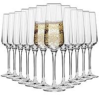 krosno bicchieri calice flute champagne spumante vetro   set di 12   180 ml   collezione avant-garde   ideale per casa ristorante feste e ricevimenti   adatto alla lavastoviglie e al forno a microonde
