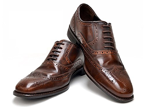No-Tie Silicone Shoelaces (Narrow, Brown)