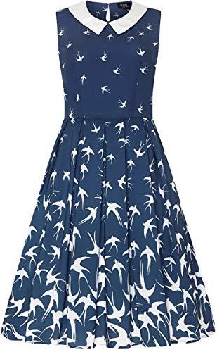 Dolly and Dotty Damen Kleid Annette Swallow 50s Swing Dress Blau 2XL