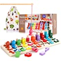 LESONG Wooden Montessori Math Puzzle Toys for Toddlers