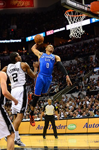 WonderClub Russell Westbrook Sports Poster Photo Limited Print Oklahoma City Thunder NBA Player Sexy Celebrity Athlete Size 8.5' X 11' #1