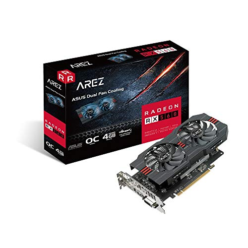 ASUS AREZ-RX560-O4G-EVO Gaming Grafikkarte (AMD, 4GB DDR5, DVI, HDMI, DisplayPort, Auto-Extreme-Technologie)