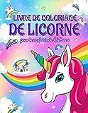Livre de coloriage de licorne pour les enfants de 4 à 8 ans
