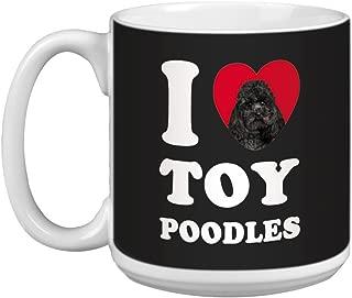 Tree Free Greetings XM29134 I Heart Toy Poodles Artful Jumbo Mug, 20-Ounce