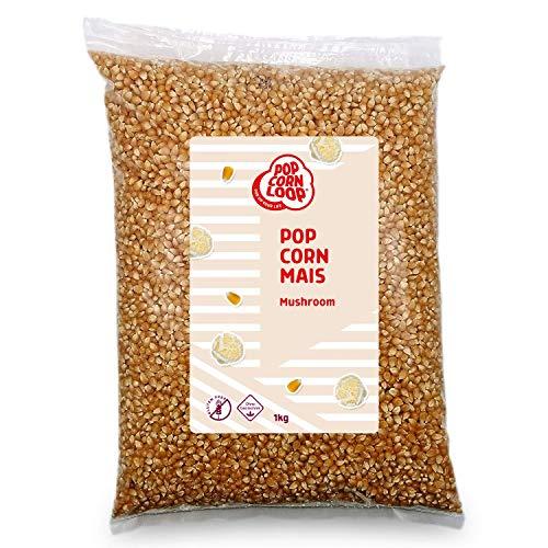 Popcorn Mais Mushroom 1 KILO für Popcornmaschine Popcornloop Beste Qualität Ohne Gentechnik Vegan Glutenfrei