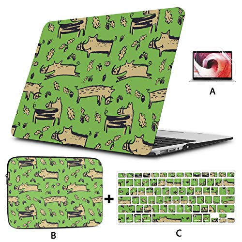 Macbook Air Accessories Cute Boars Macbook Cases Hard Shell Mac Air 11'/13' Pro 13'/15'/16' With Notebook Sleeve Bag For Macbook 2008-2020 Version