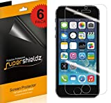 Supershieldz (6 Pack) for iPhone SE (1st Gen, 2016 Edition), iPhone 5S, iPhone 5C and iPhone 5 Screen Protector, Anti Glare and Anti Fingerprint (Matte) Shield