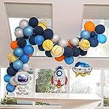 JSJJATF Globos 85pcs Space Space Balloons Set Garland Kit Universo Espacio Planetas Partido UFO Rocket Astronauta Globos Decoración de cumpleaños (Color : 85pcs Balloons)