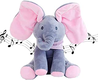 Mumoo Bear Peek-a-boo Elephant baby Cute Singing Plush Toy, Other