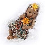 Twin Dolls 27Cm Reborn Doll Baby 10 Pulgadas Vinilo de Silicona Suave Real Guapo Realista muñeca recién Nacida compañera de Juegos Chicas jóvenes, A
