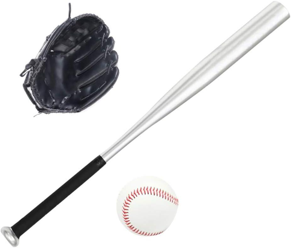 Kingkun Baseball Set Healthy Sport Aluminum Baseball Bat Glove B