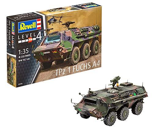 Revell Modellbausatz Panzer 1:35 - TPz 1 Fuchs A4 im Maßstab 1:35, Level 4, originalgetreue Nachbildung mit vielen Details, 03256