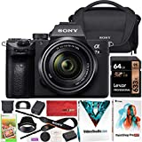 Sony ILCE-7M3KB a7III Full Frame Mirrorless Camera with Lens Kit SEL2870 FE 28-70mm F3.5-5.6 OSS Bundle Including Sony LCSU21 Carrying Case + 64GB Memory Card + Deco Gear Accessories