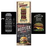 Zidao Blechschild Burger Bilder Modern Deko,Best in Town