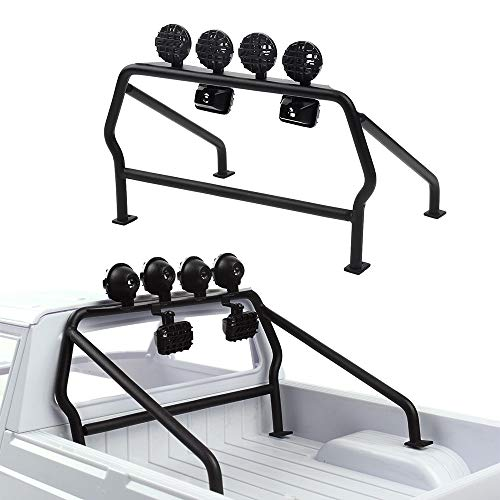 INJORA Metal Roll Cage Bucket with 6 LED Lights for RC Crawler Axial SCX10 D90 Tamiya CC01