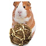 SunGrow Rabbit Teeth Floss Ball, Coco Fiber Chew Toy, Improves Dental Health, Provides Stimulation, Bond with Your pet Playing Catch, Tug of War, Fetch, Stress Reliever, Ideal for Small Furry Friends