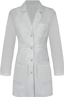 Panda Uniform Custom Women 34 Inch Medical Consultation Lab Coat-Grey-M