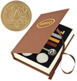 Samyo Wax Seal Stamp Kit Retro Creative Sealing Wax Stamp Maker Gift Box Set Brass Color Head with Vintage Classic Alphabet Initial Letter (A)