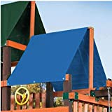 Sevenmore Playground Replacement Canopy, 43' x 90' Outdoor Swingset Shade Kids Playground Roof Canopy Waterproof Cover Snow Proof Tent Replacement Tarp Sunshade (Blue-43 90')