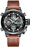 Montre Homme Montre Militaire Sport pour Homme Etanche Chronographe Alarme Date LED Digitale Analogique Montres Bracelet de Mode...