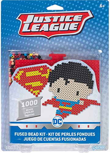 Perler Beads Crafts for Kids Chibi Justice League Superman Fuse Bead Pattern Kit, 1000pc