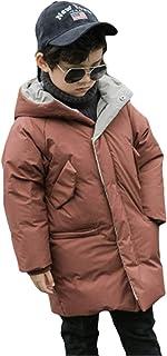 ハリウッドスカープアドバンテージ(グードコ) 男の子 中綿入り ジャケット フード付き ボーイズ ダウンジャケット ロングコート ふわふわ 防寒 厚手 通気性 お出かけ 発表会 カーキ150CM